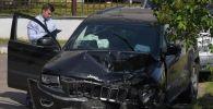 Пострадавший в результате аварии автомобиль актёра Михаила Ефремова Jeep Grand Cherokee. Архивное фото