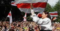Беларуста президенттике мурдагы талапкер Светлана Тихановская. Архивдик сүрөт