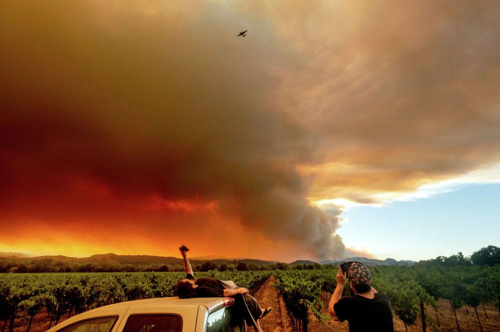 Пожары в Калифорнии охватили 500 тысяч гектаров леса, зафиксировано почти 560 очагов возгорания. Температура в штате держится в районе +37 градусов. Известно о шести погибших и 43 пострадавших в результате возгораний, разрушено около 500 домов.