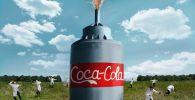 Российский блогер Максим Монахов (Mamix) высыпал соду в 10 тысяч литров кока-колы и снял происходящее на видео.