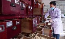 Медицинский работник занимающийся традиционной медициной. Архивное фото