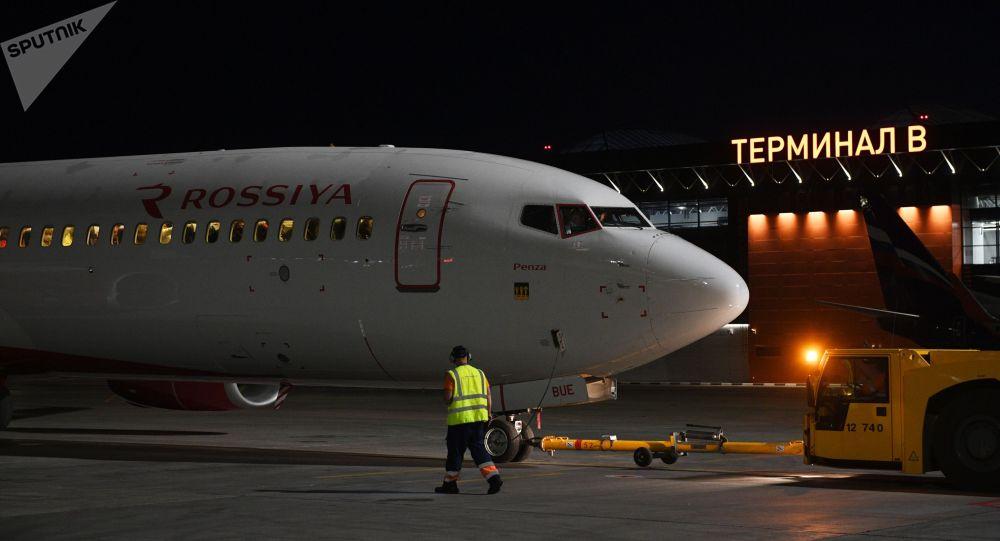 Москвадага Шереметьево аэропортундагы учак. Архивдик сүрөт