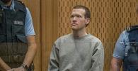 Брентон Таррант, вооруженный преступник, который стрелял и убивал верующих во время нападений на мечеть Крайстчерча, во время вынесения ему приговора в Высоком суде в Крайстчерче. Архивное фото
