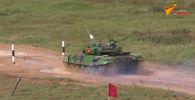 Сегодня выступает третий экипаж танкистов из Кыргызстана. Две предыдущие команды заняли в групповых этапах третьи места.