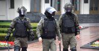 Сотрудники правоохранительных в Минске. Архивное фото