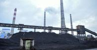 Уголь на территории Бишкекской теплоэлектроцентрали. Архивное фото