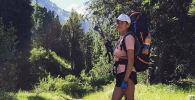 Инструктор по альпинизму Светлана Великанова во время похода