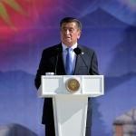 Президент КР Сооронбай Жээнбеков во время выступления на церемонии празднования 29-й годовщины независимости КР на площади Ала-Тоо в Бишкеке
