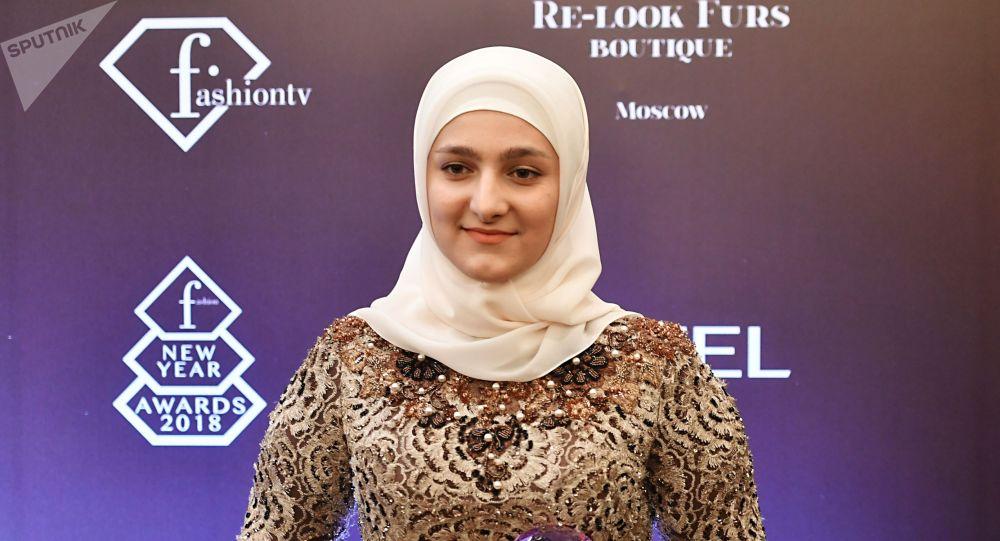 Чеченстандын президенти Рамзан Кадыровдун кызы Айшат Кадырова. Архив