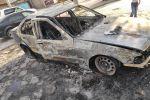 Сгоревшее авто на пересечении улиц Гагарина и Маликова в Бишкеке