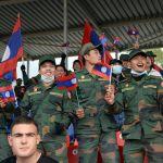 Болельщики команды армии Лаоса