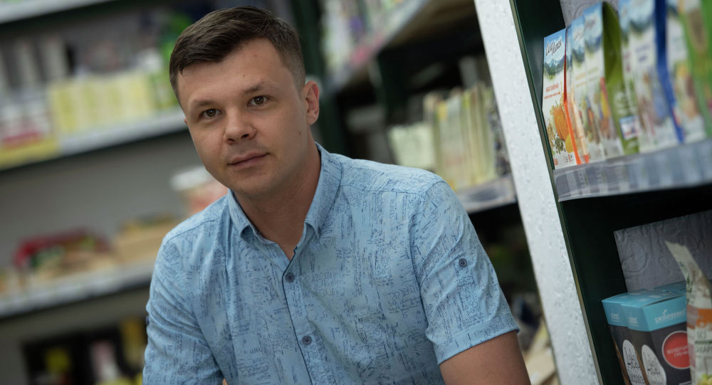 Бишкекский предприниматель, владелец магазина продуктов полезного питания Роман Коваленко