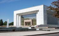 Закрытый на реконструкцию государственный исторический музей в Бишкеке. Архивное фото