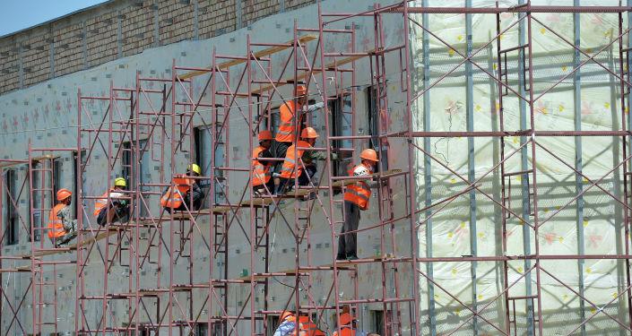 Ход строительства текстильной фабрики в Ошской области