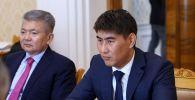 Министр иностранных дел Кыргызстана Чингиз Айдарбеков во время встречи с министром иностранных дел РФ Сергеем Лавровым в Москве.