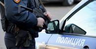 Сотрудник полиции РФ во время учений. Архивное фото