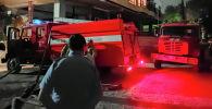 Бишкекте курулуп жаткан көп кабаттуу үйдөн өрт чыкты