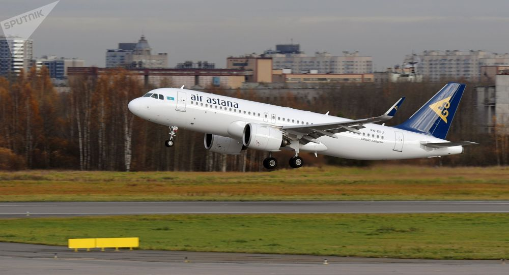 Самолет Airbus A320neo авиакомпании Air Astana. Архивное фото