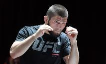 Бывший чемпион UFC в легком весе Хабиб Нурмагомедов. Архивное фото