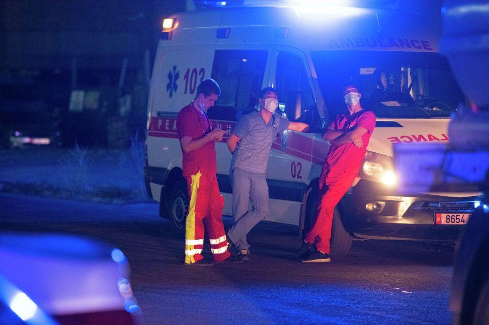 На месте дежурила бригада скорой помощи