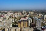 Вид на многоэтажные жилые дома в Бишкеке. Архивное фото