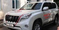 Внедорожник Toyota Land Cruiser Prado подаренный Каракольскому Центру госсанэпиднадзора