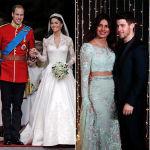 Второе десятилетие XXI века: герцогиня Кембриджская с принцем Уильямом; индийская актриса Приянка Чопра с музыкантом Ником Джонасом; модель в наряде ливанского дизайнера Рима Акры.