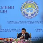 Президент Кыргызстана Сооронбай Жээнбеков на заседании Совета безопасности. 17 сентября 2020 года