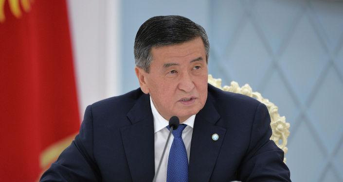 Президент Кыргызской Республики Сооронбай Жээнбеков принял заместителя председателя Правительства Российской Федерации Алексея Оверчука. 22 сентября 2020 года