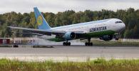 Uzbekistan Airways авиакомпаниясынын учагы. Архив