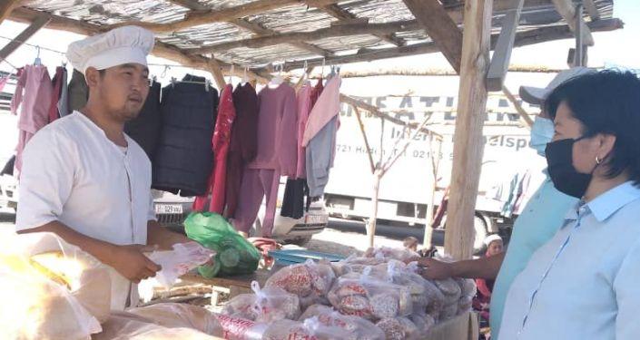 Во время рейда по выявлению нарушений санитарных норм в Баткенской области