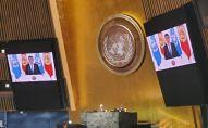 Онлайн выступление президента Кыргызской Республики Сооронбая Жээнбекова на 75-й юбилейной сессии Генеральной Ассамблеи ООН