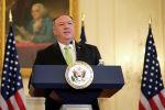 Госсекретарь США Майк Помпео выступает на пресс-конференции, на которой было объявлено о восстановлении администрацией Трампа санкций в отношении Ирана, в Государственном департаменте США в Вашингтоне. США, 21 сентября 2020 года