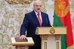 Президент Белоруссии Александр Лукашенко на церемонии инаугурации в Минске.