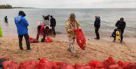 Очистка озера Иссык-Куль и прибрежных зон от мусора