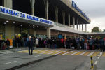 Большая очередь в аэропорту Манас