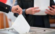 Люди голосуют на выборах. Архивное фото
