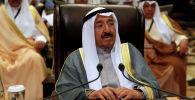 Эмир Кувейта Сабах Аль Ахмед Ас Сабах или Сабах IV. Архивное фото