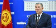 Саламаттык сактоо министринин орун басары Нурболот Үсөнбаев брифинг учурунда