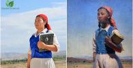 Проект Бишкекзеленхоза вместе с музеем ИЗО имени Гапара Айтиева Картины оживают