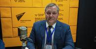 Генеральный секретарь Совета межпарламентской ассамблеи СНГ Дмитрий Кобицкий на радиостудии Sputnik Кыргызстан