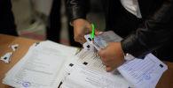 Подсчет результатов голосования на избирательном участке. Архивное фото