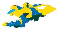 За какие партии голосовали в районах Кыргызстана