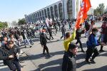 Митинг граждан и представителей партий, которые недовольны результатами выборов в Жогорку Кенеш на площади Ала-Тоо в Бишкеке