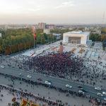 5 октября в Бишкеке прошел митинг граждан и представителей партий, недовольных результатами выборов