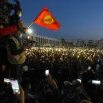На акции протеста собрались несколько тысяч человек