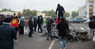 Ситуация на площади Ала-Тоо после беспорядков