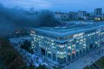 Кыргызстанда 5-6-октябрдагы элдик толкундоолордон кийинки Жогорку Кеңештин имараты. Архив