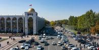 Бишкектин бийиктиктен көрүнүшү. Архив
