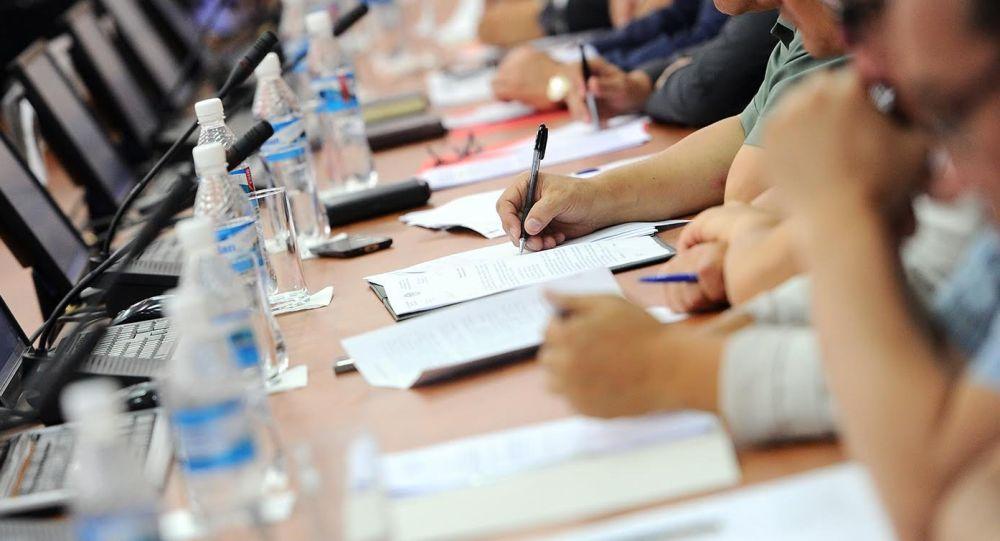 Участники селекторного совещания Республиканского штаба по подготовке к осенне-зимнему периоду в республике